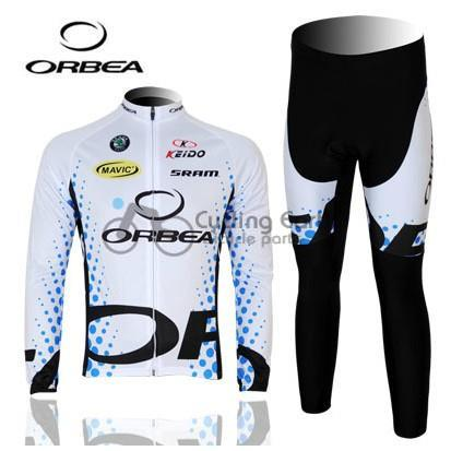 3D Silicone! ORBEA #1 2011 team long sleeve cycling jersey pants bicycle bike riding cycling autumn wear clothes set male team cycling jerseys autumn cycling clothes long sleeve bike jersey winter fleece bicycle riding suits free shipping