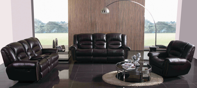 recliner leather sofa set - Reclining Leather Sofa