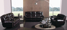 Recliner leather sofa set with genuine leather Sofa set living room furniture leather sofa(China)