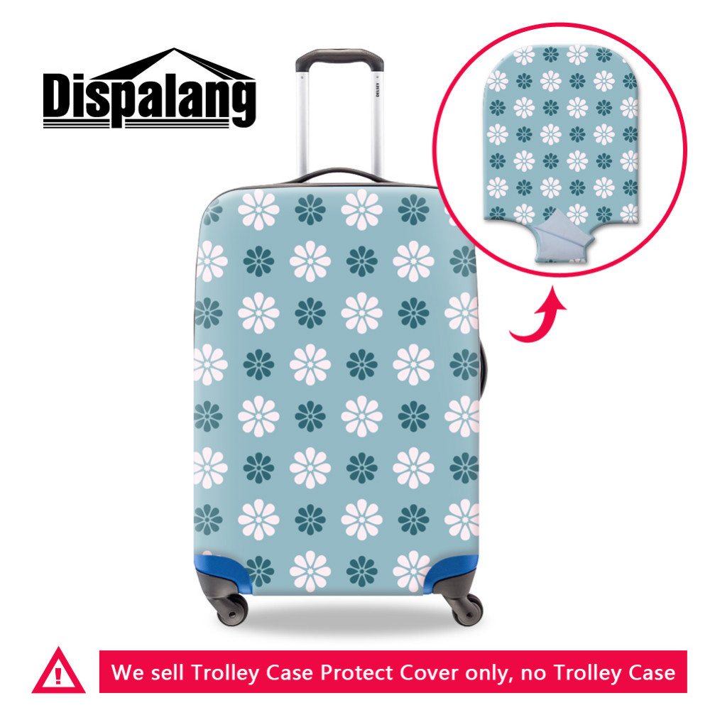 -5 19-32 Inch Luggage Covers Protective Suitcase Cover Colorful Printing Bag Cover Trolley Case Travel Luggage Dust Fexible Covers
