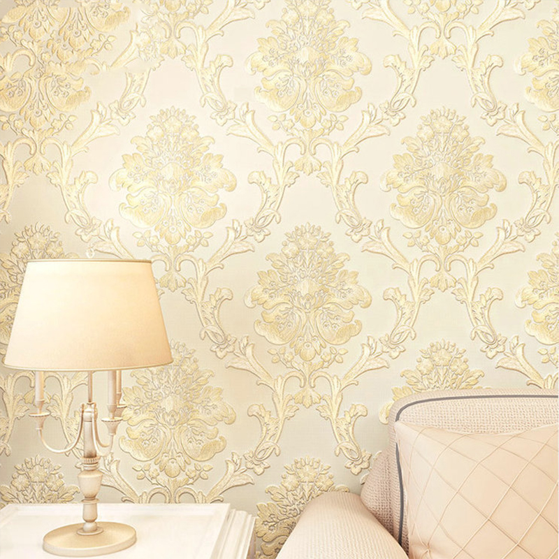 5 Color Brief Style Pastoral Floral Classic Straw Design Beige Wall Paper Wallpapers Roll For Office Home Decor