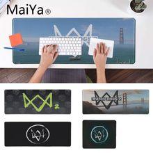 Maiya Watch Dogs 2 логотип резиновый коврик для мыши коврик большой Аниме Коврик для мыши для ноутбука компьютерная клавиатура Коврик Настольный коврик