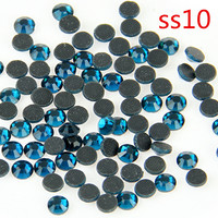 SS10 Peacock Blue DMC Stone 500 Gross Crystal Strass Glass DIY Handmade Accessories Rhinestones For Wedding