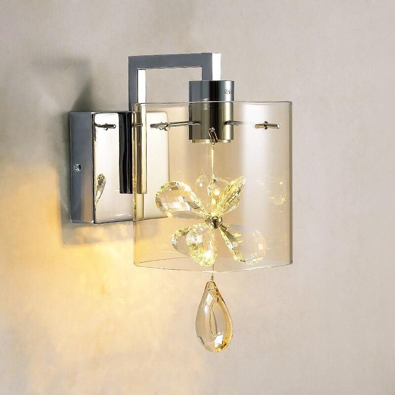 מודרני פרפר קריסטל LED פמוטים קיר אורות קיר אהיל זכוכית WL241 שליד המיטה חדר שינה מרפסת מסדרון מנורות גופי תאורה-במנורות קיר מתוך פנסים ותאורה באתר cheerhuzz interiorlight Store