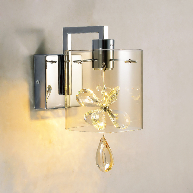 Modern butterfly crystal led wall sconces lights glass shade wall modern butterfly crystal led wall sconces lights glass shade wall lamps hallway balcony bedroom bedside fixtures aloadofball Image collections