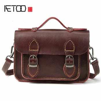 AETOO New handbags fashion retro leather handbags rose imprint ladies diagonal handbag mini shoulder bag - DISCOUNT ITEM  50% OFF All Category