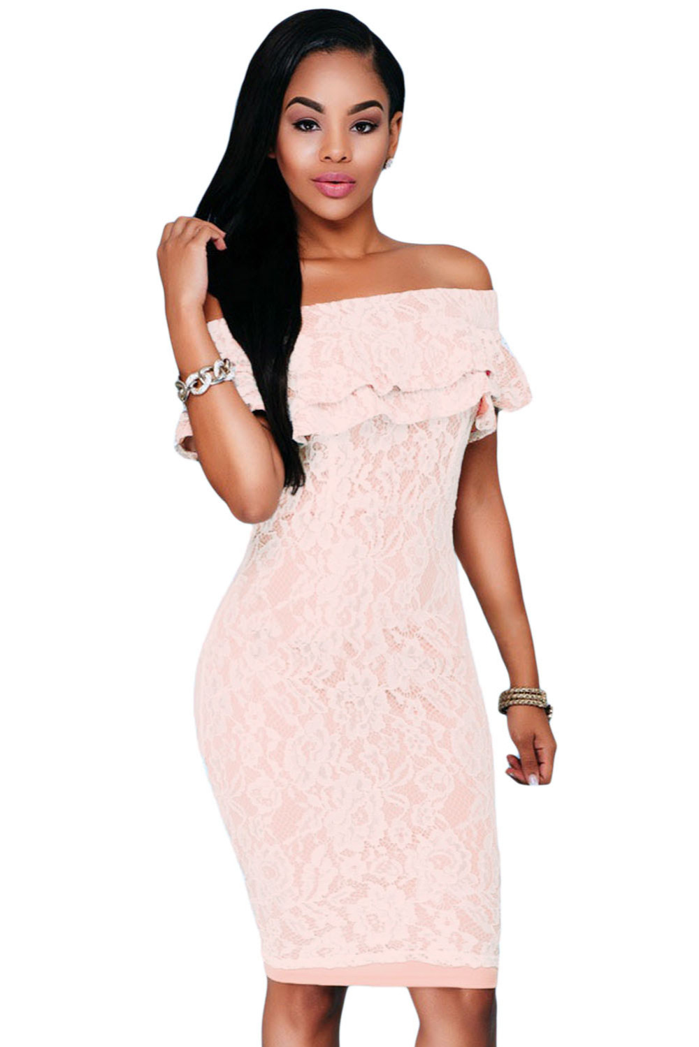 Off the Shoulder Lace Dresses for Women
