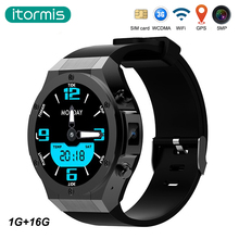 Itormis Bluetooth Android Smart Watch SmartWatch 3 г sim-карты MTK6580 1 г + 16 г 5MP Камера Wi-Fi GPS сердце скорость для Android и iphone