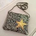 Pentagram wallets sequins bag Messenger bag children Women zipper purse mini small square package five stars Beads shoulder bag