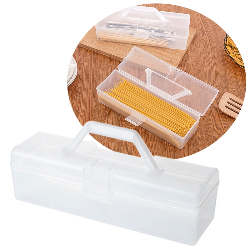 Multifunction Noodle Storage Box Chopsticks Cutlery Kitchen Organizer Storage Case Spaghetti Rice Beans Dry Food Container