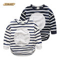 Children Tops Casual Boys T Shirt Long Sleeve Character Letter Print Pattern Boys And Girls Clothes Kids Tees Striped T-Shirt