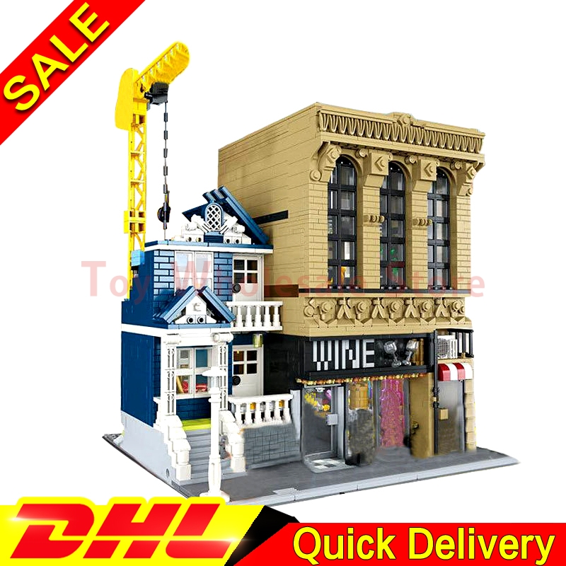 IN STOCK LEPIN 15035 2841Pcs Creative MOC The Bars and Financial Companies Set Children Educational Building Blocks Bricks Toys in stock lepin 23015 485pcs science and technology education toys educational building blocks set classic pegasus toys gifts