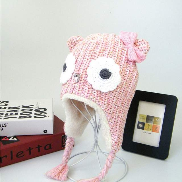 85116a52aee placeholder 0-4 Years Girls Hats Pink Owl Kids Baby Winter Hats New Brand  LANGZHEN Bonnet