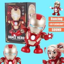 Dance Iron Man Action Figure Toy LED Flashlight with Sound Marvel Avengers endgame Super Heroes Electronic
