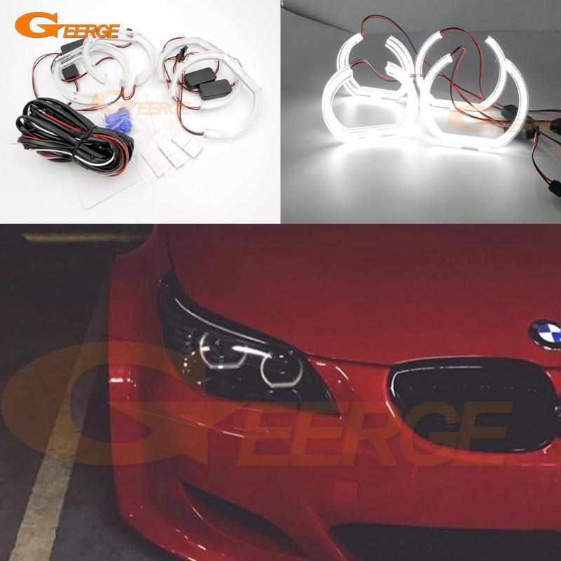 For BMW 5 SERIES E60 E61 LCI 525i 528i 530i 545i 550i M5 2007-2010 Xenon headlight DTM Style Ultra bright led Angel Eyes kit