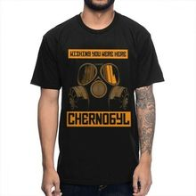 Summer Nuclear Chernobyl Disaster Tee Shirt New Design Round Collar T Style Hip Hop Men T-Shirt Tops