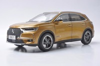 1:18 Diecast Model for Citroen DS 7 DS7 2018 Gold SUV Alloy Toy Car Miniature Collection Gift