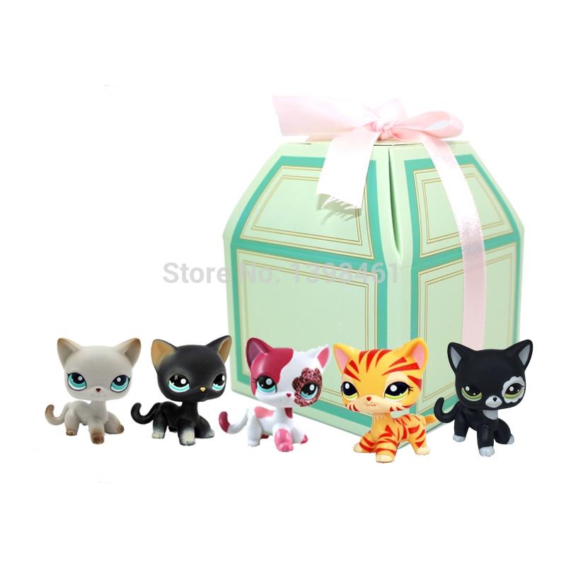 5 Teilelos Echt Pet Shop Lps Spielzeug Littlest Kurze Haar Katze