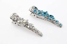 2pcs Hairpins Barrettes Wedding Hair Clips Hair Jewelry Women Crystal Clips Bridal tiara Diamante Headdress Accessories D782-5