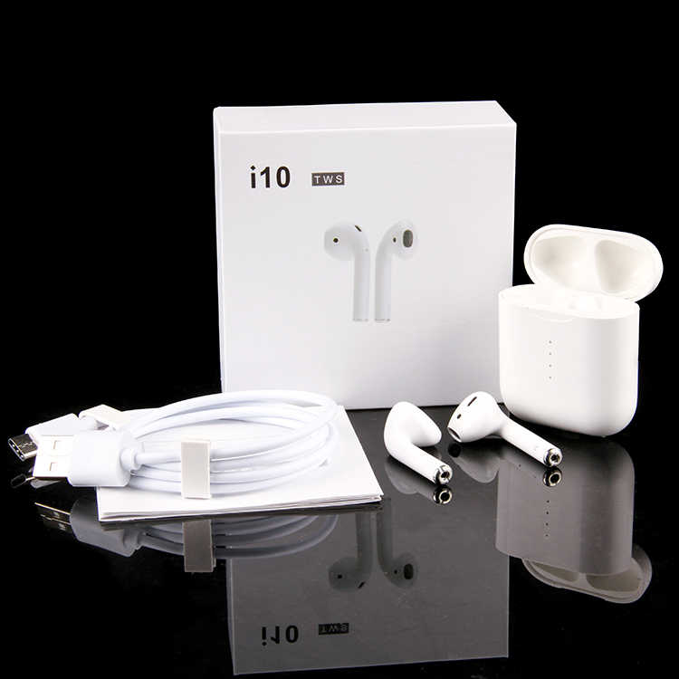 i10 tws Bluetooth Earphones Wireless earphone Bluetooth 5 0 Earbuds Touch  control headset for IPhone Xiaomi Mobile Android Phone