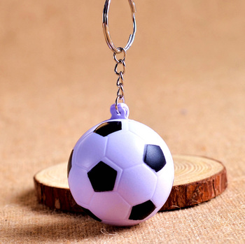 Wholesale 60pcs/lot Jewelry football cell phone accessories PU foaming football keychain key chain ring small gift