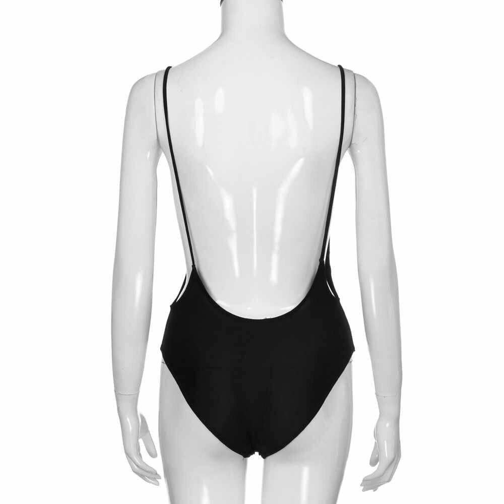 1296859af5 ... Swimsuits Women Plus Size One Piece Monokini Swimwear Push-Up Padded  Bikini Swimsuit Costumi Da ...