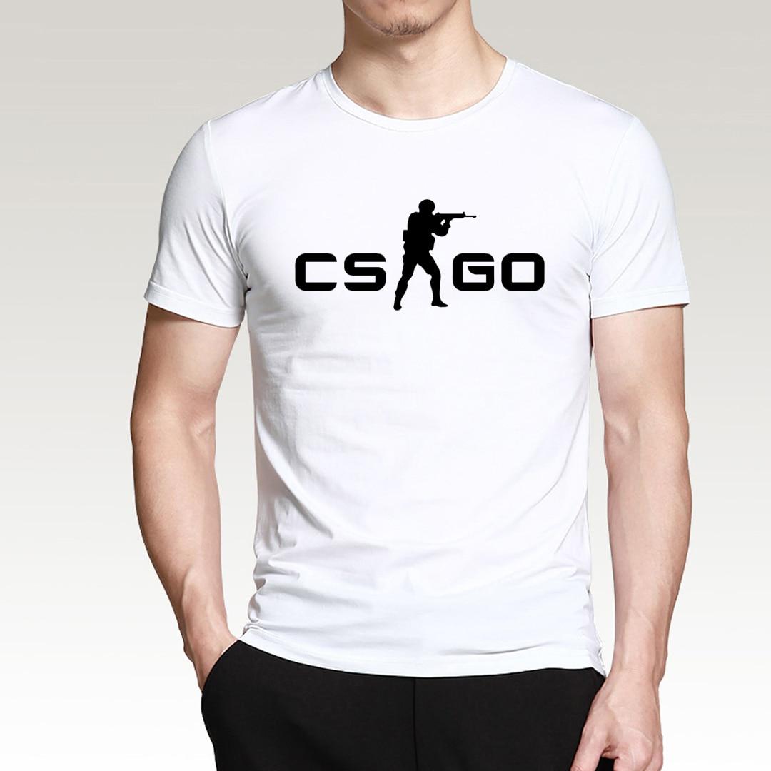 Regalo para gamer CS GO man Camiseta 2020 verano estilo camisa de manga corta para hombres 100% de algodón de alta calidad estilo hip hop top tees S-3XL