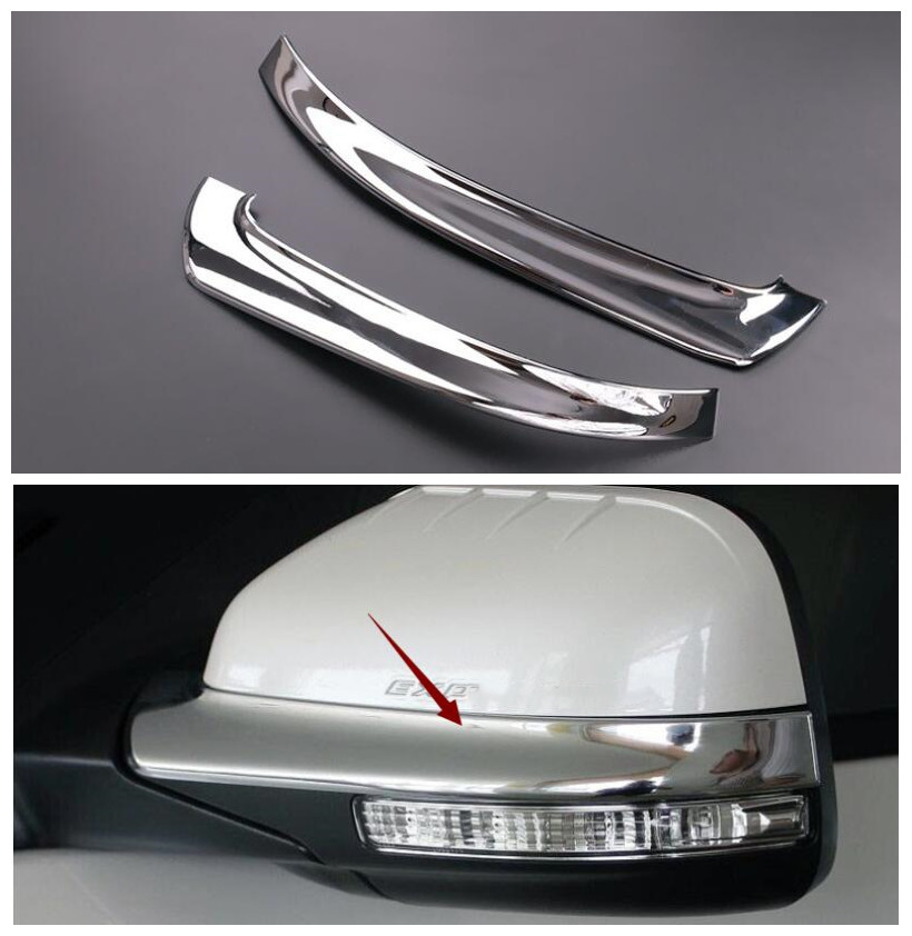 2pcs ABS Chrome Side <font><b>Mirrors</b></font> Anti-rub Decoration Protector car styling stickerrs <font><b>for</b></font> <font><b>Ford</b></font> <font><b>Explorer</b></font> 2011 - 2017 <font><b>accessories</b></font> image