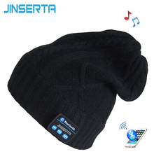 On sale JINSERTA Wireless Bluetooth Headphone Music Hat Smart Cap Headset Earphone Warm winter hat with Mic for Outdoor sport for phone