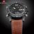 Moda masculina de Couro Casual Quartz Analógico Digital Relógio de Pulso Esporte Relógios Masculino Relógio Militar Do Exército À Prova D' Água LEVOU Ao Ar Livre
