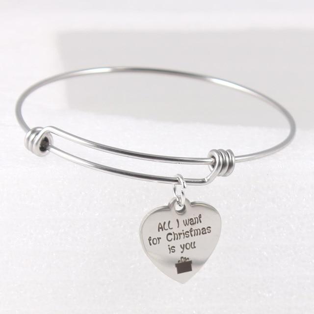 46975c134389 Todo lo que quiero para la Navidad es usted extensible brazalete ajustable  brazaletes pulseras mejores amigos