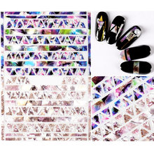 MEET ACROSS 1 Sheet Snakeskin 3D Nail Art Stickers Marble Stone Grid Leopard Sticker Decals Japanese Accessories