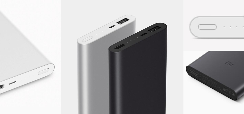 Original Xiaomi Mi Power Bank Pro 10000mAh Mi Powerbank Pro 10000 Slim USB Type-C Faster Charge for iPhone6s Xiaomi Mi5 Mi4 (1)