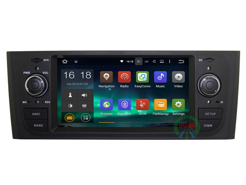 Android 7.1 Car Radio GPS for Fiat Grande Punto Linea Autoradio GPS with BT Radio RDS Wifi 3G Mirror-link Free 8GB Map Card