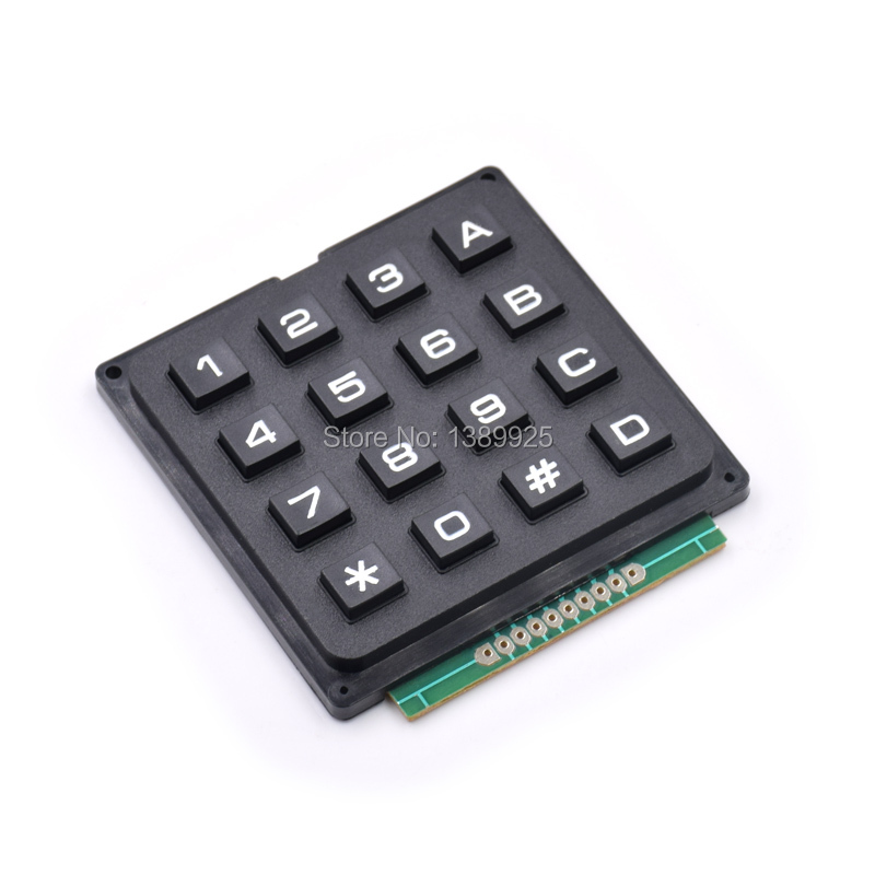 4 X 4 Matrix Keyboard Keypad Module With 16 Keys 4 * 4 Plastic Keys Switch For Ar-du-ino Controller