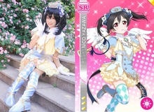 New LoveLive! SR Cards Angel Awakening Nico Yazawa Cosplay Costume Outfit Carnival/Halloween Adult Costumes for Women S-XL