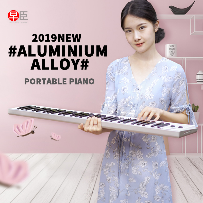 Za-o portátil 61/88 chave multi founcation countrol midi instrumento musical teclado de piano eletrônico digital