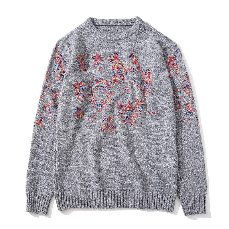Chinese Style Embroidery font b Sweater b font font b Men b font Long Sleeve O