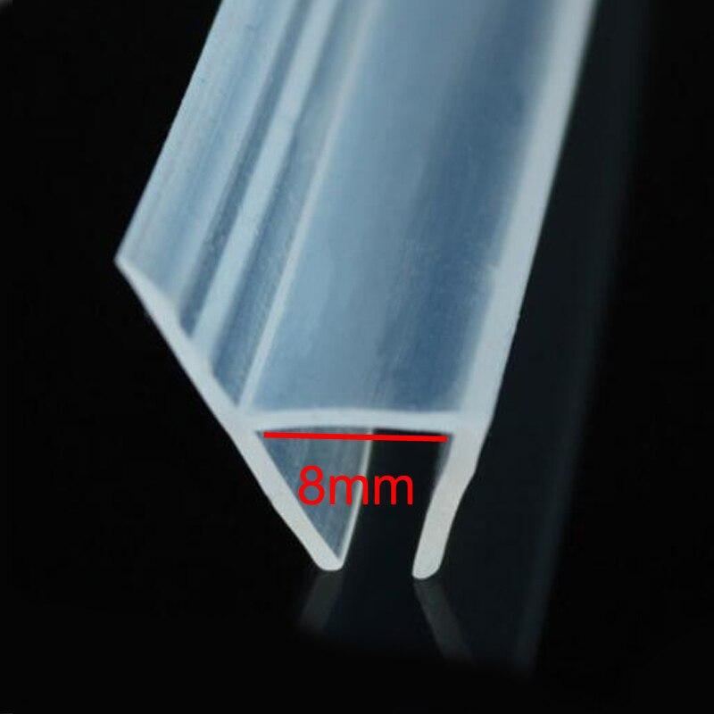 MB-LANHUA Mampara de Ducha de PVC Tira de Sello de Puerta Revestimiento de tap/ón de Agua Ba/ño Tira de Sello de Vidrio