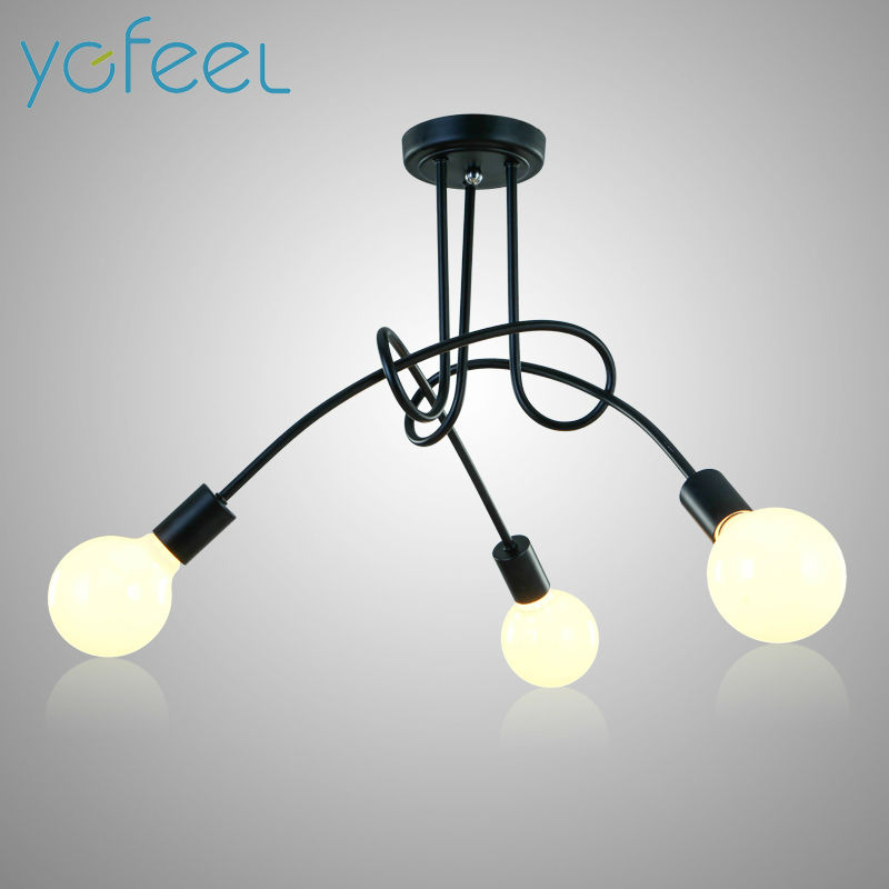 [YGFEEL] Ceiling Lights Modern Simple European Style Personalized Creative Lamps Restaurant Bedroom Living Room Lamp E27 Holder a1 master bedroom living room lamp crystal pendant lights dining room lamp european style dual use fashion pendant lamps
