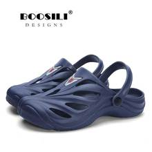 2019 New Sale Mens Leather Sandal Garden Shoes Summer Cools Sandals High Quality Breathable Big Size Clogs Lightweight