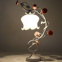 Розовый Керамика Роза Спальня тумбочка свет принцесса Флора свадебные подарки Пастырское Цветок Стекло тени кабинет бюро свет