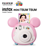 Fujifilm Instax Mini TSUM TSUM Instant Film Camera + 10 Sheet Film Close up Lens Strap Auto Metering Selfie Mirror Christma Gift