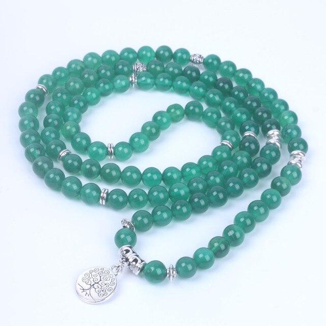 Bracelet Mala Bouddhiste vert