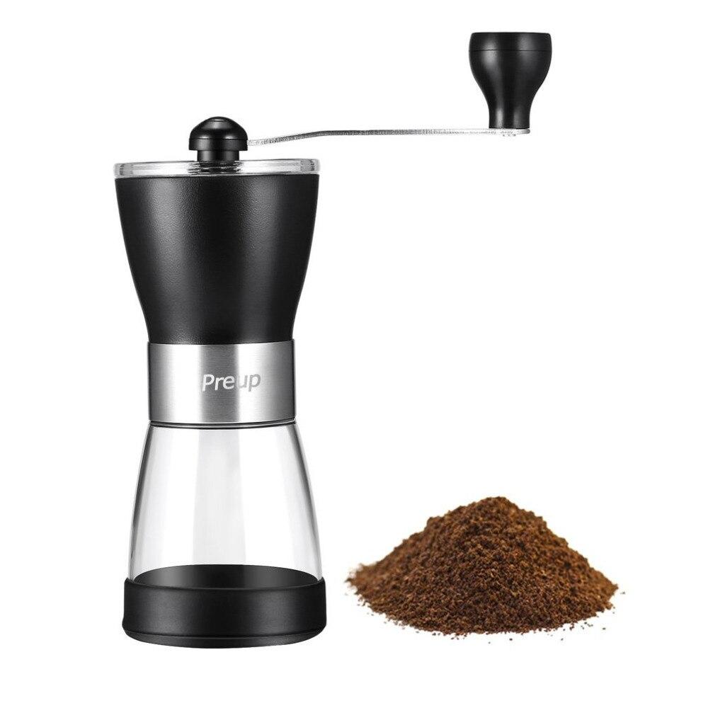 Outad moedor de mão manual moedor de café máquina de café de plástico mão moedor de grãos de café moedor de moagem cerâmica núcleo lavável