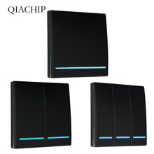 QIACHIP 433Mhz Wireless RF Remote Control Switch AC 110V 220V Lamp Light LED Switches Corridor Room Wall Panel