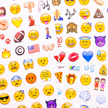 4 Sheets/Set Stickers Hot Cute Die Emoji Smile Face For Notebook Message Twitter Funny Creative Stationery Sticker