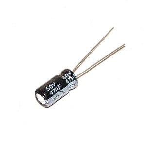 Image 2 - 50 adet 50 V 47 UF 47 UF 50 V Alüminyum elektrolitik kondansatör Boyutu 6*12 MM 50 V/ 47 UF elektrolitik kondansatör