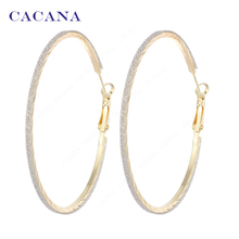 CACANA  Hoop Long Earrings For Women Top Quality Round Bijouterie Hot Sale No.A852 A853