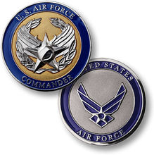 U.S. Air Force / Commander - USAF Nickel Challenge Coin 50pcs/lot DHL free shipping